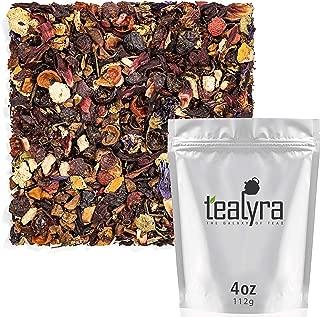 Tealyra - Peach n' Cream - Chamomile - Hibiscus - Orange - Nettle - Fruity Herbal Loose Leaf Tea - Refreshing Relaxing - All Natural - No Caffeine - 112g (4-ounce)