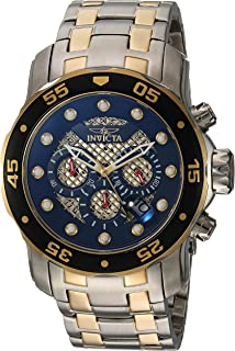 Men's Pro Diver Quartz Diving Watch with Stainless-Steel Strap, Two Tone, 18 (Model: 25333)