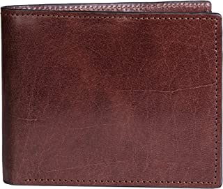 Mens Leather Bifold Wallet, Andrews, RFID Blocking, by Ladderback