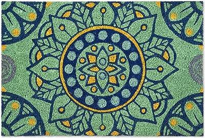 Excelsa Mandala Mediterranean Entrance Mat, Coconut Fibre, Multicoloured, 40 x 60 cm