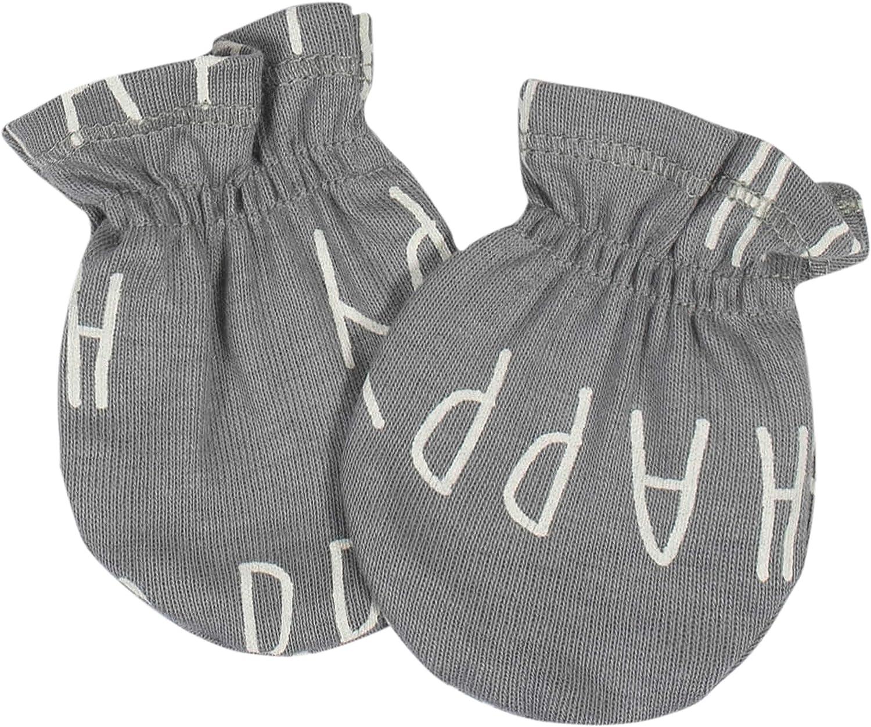 Gerber Baby Boys' 8-Piece Organic Cap and Mitten-Set