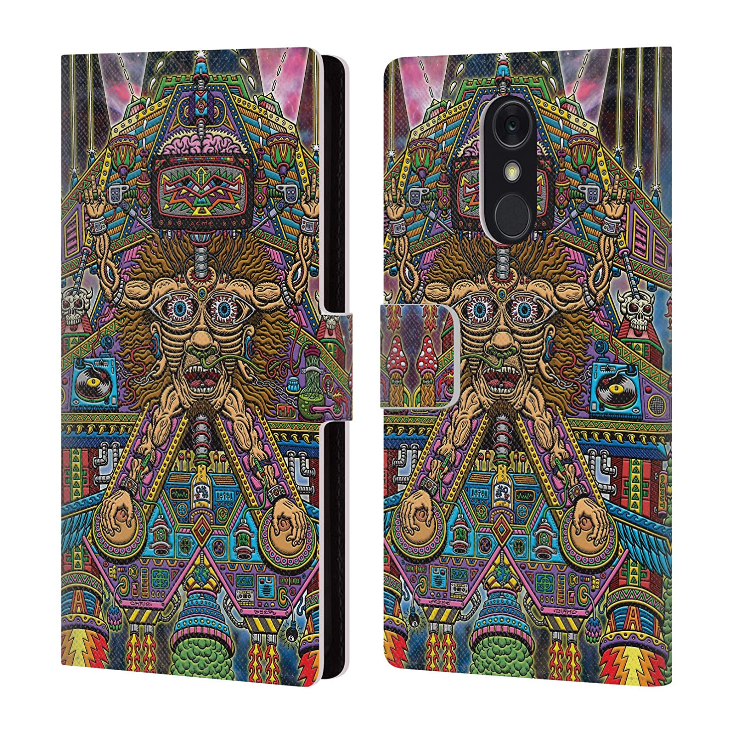 Official Chris Dyer Sedated Slave Ship Pop Art Leather Book Wallet Case Cover for LG Q Stylus