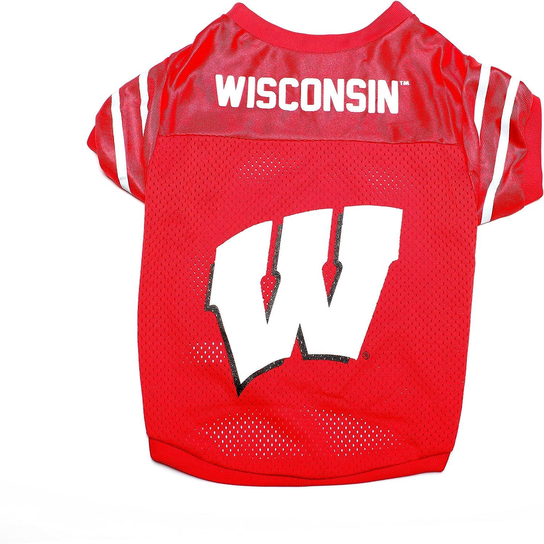 Pet Goods NCAA Wisconsin Badgers Collegiate Pet Jersey, Small