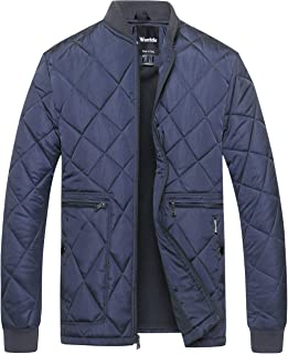 Wantdo Men's Quilted Bomber Jacket Padded Outdoor Diamond Puffer Coat