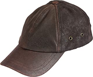 Stetson Men's Weathered Leather Ball Cap
