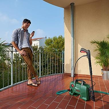 Bosch High Pressure Washer EasyAquatak 120 (1500 Watt, 120 Bar / 1740 PSI, High Pressure Gun, Lance, 5 m Hose, Variable Fan J