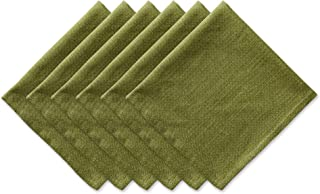 """DII Oversized 20x20"""" Cotton Napkin, Pack of 6, Variegated Olive Green - Perfect for Fall, Thanksgiving, Dinner Parties, an..."""