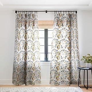 "Deny Designs Iveta Abolina Musette Sheer Window Curtain, 50"" x 96"", Green"