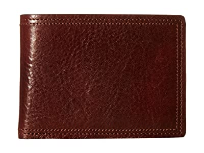 Bosca Dolce Collection Credit Card Wallet w/ ID Passcase (Dark Brown) Bi-fold Wallet