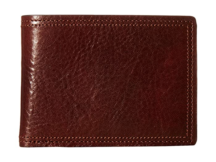 Bosca  Dolce Collection - Credit Card Wallet with ID Passcase (Dark Brown) Bi-fold Wallet