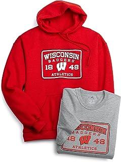 Russell Athletic Men's Logo Tee and Sweatshirt, Wisconsin
