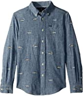 Polo Ralph Lauren Kids Linen-Cotton Chambray Shirt (Big Kids)