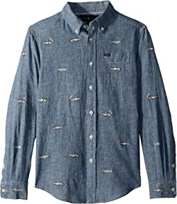 Polo Ralph Lauren Kids - Linen-Cotton Chambray Shirt (Big Kids)