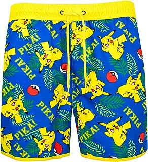 Pokemon Mens Pikachu Swimming Trunks