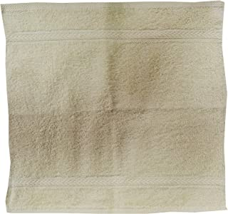 Princes PR_FT_CRM Terry Face Towel, 30 x 30 cm, Cream, H 1.0 x W 15.0 x D 15.0 cm