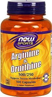 Now Foods Arginine Ornithine Standard - 100 Cápsulas