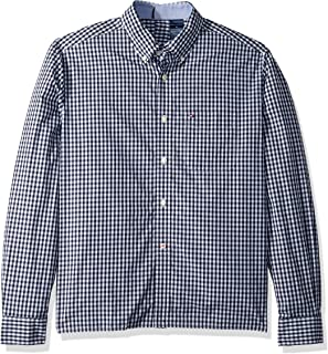 cbab47ac Tommy Hilfiger Men's Adaptive Seated Fit Magnetic Button Shirt with Touch  Fastener Back