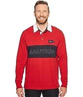 Nautica Big & Tall - Big & Tall Long Sleeve Logo Rugby Polo