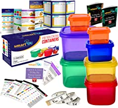 smartYOU Products 21 Day Portion Control Containers Kit - Nutrition Diet, Multi-Color Coded Weight Loss System. Complete G...