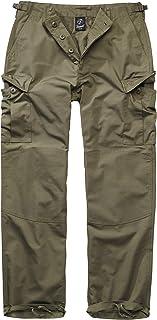 Brandit BDU Ripstop Trouser Men Cargo Trousers Olive, Loose Fit