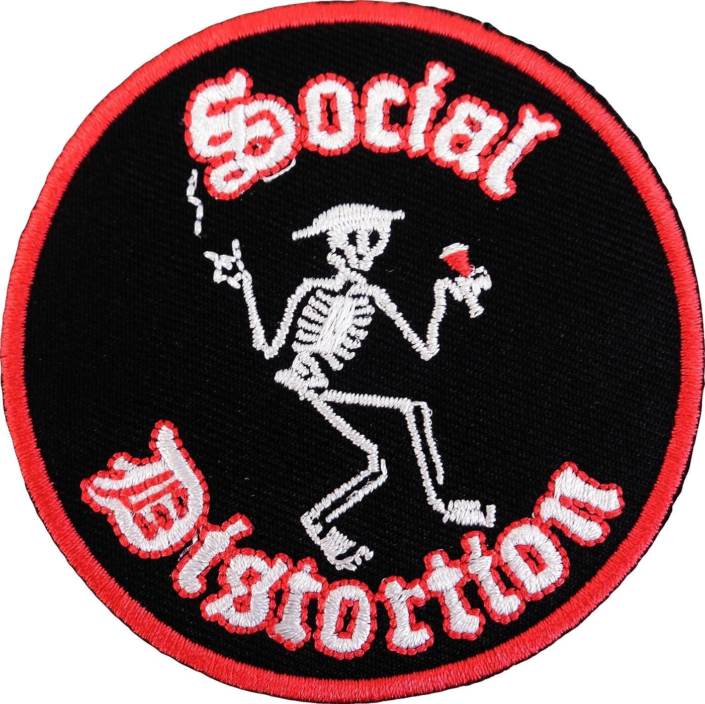 Social Distortion Skeleton Logo Rock Music Iron On Patch p747