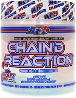 Chain'd Reaction - The Ultimate BCAA Amino Acid Recovery Aid for Muscle Growth, Rocket Pop, 300 Gram