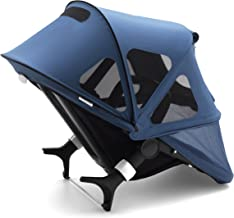 Bugaboo Fox And Cameleon3 Breezy Sun Canopy, Sky Blue - Extendable Sun Canopy with UPF Sun Protection and Mesh Ventilation Panels