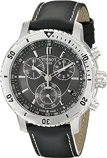 Tissot Men's T0674171605100 PRS 200 Black Chronograph Dial Watch