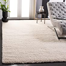 Safavieh California Premium Shag Collection SG151-1212 2-inch Thick Area Rug, 4' x 6', Ivory