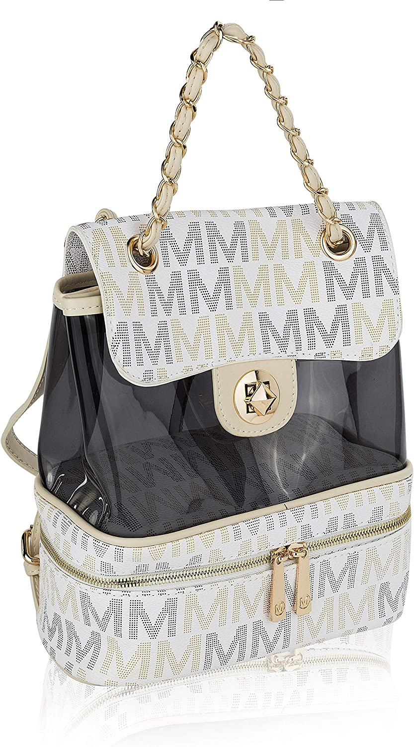 Judith M Signature Backpack Clear front pocket by Mia K. Farrow
