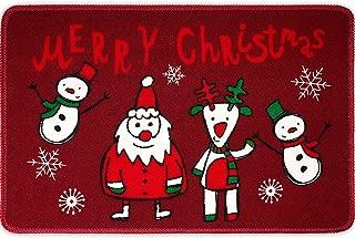 Christmas Doormat Creative Christmas Series Printed Soft Anti-Slip Floor Mat Merry Christmas Indoor Outdoor Welcome Doormat, 23.6 x 15.7 Inch (Color B)