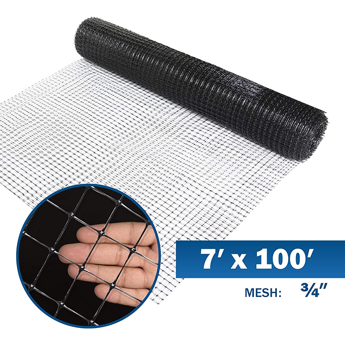 Fencer Wire Deer and Animal Fence Barrier Netting 7 ft. x 100 ft. with Mesh Size 3/4