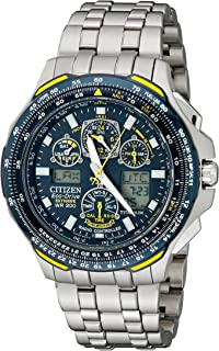 Citizen Mens JY0050-55L Blue Angels Skyhawk A-T Titanium Eco-Drive Watch
