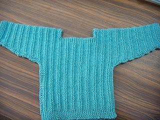 Handgestrickter babypulli-taille 74/80–turquoise-kühlere pour les saisons.