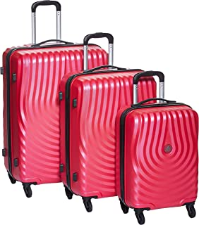 Kamiliant By American Tourister Kapa Softside Spinner Luggage Set of 3, with Number Lock - Red