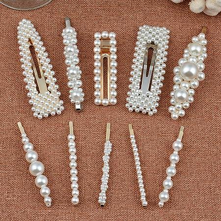 Large pearl hair clip Pearls hair pins White pearl hairpins Bridal hair pins Bridal pearl hair pins Wedding pearl hair piece White big pearl