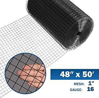 Fencer Wire 16 Gauge Black Vinyl Coated Welded Wire Mesh Size 1 inch by 1 inch (4 ft. x 50 ft.)