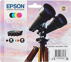 Epson Multipack 502 Jumelles, Cartouches d'encre d'origine, 4 couleurs : Noir, Cyan, Magenta, Jaune, XP-5100 XP-5105 WF-28...