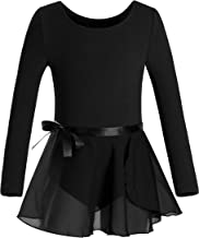 DANSHOW Girls Team Basic Long Sleeve Leotard Skirt Kid Dance Ballet Tutu Dress