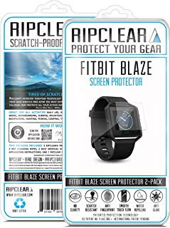 RIPCLEAR Screen Protector Kit for Fitbit Blaze Smartwatch Support American Companies - Scratch-Resistant, All-Weather Protection, Crystal Clear - 2-Pack
