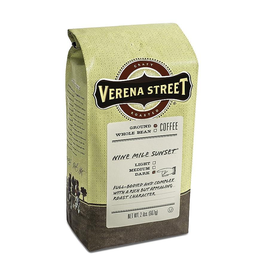 Verena Street 2 Pound Ground Coffee, Dark Roast, Nine Mile Sunset, Rainforest Alliance Certified Arabica Coffee