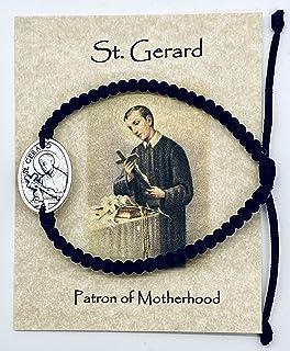 JWG Industries Saint Gerard Catholic Religious Medal Jewelry Bracelet