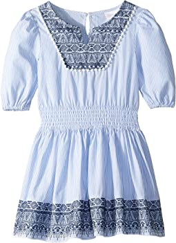 Yarn-Dye Stripe Lace Dress (Toddler/Little Kids)