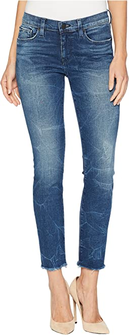 Tally Mid-Rise Crop Raw Hem Jeans in Parkway