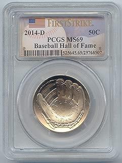 2014 D Baseball Hall of Fame Commemorative Half Dollar MS-69 PCGS First Strike
