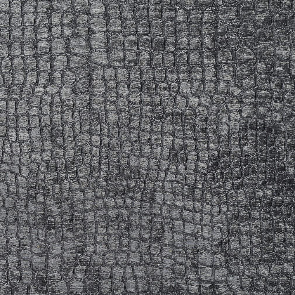 All stores are sold A0151U Grey Textured Alligator Shiny Woven Upholstery Velvet Under blast sales Fab