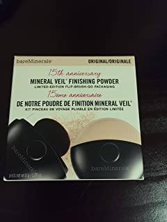 bareMinerals 15th Anniversary Tinted Mineral Veil Finishing Powder Limited Edition Flip-Brush-Go Packaging (8g) - Original