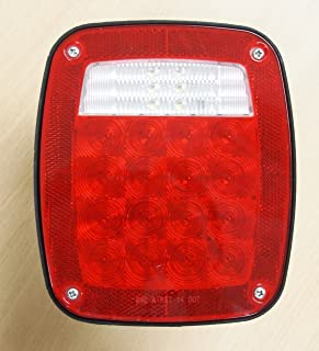 Eaglestar LED Submersible Universal Combination Signal Tail Light Truck Lite Red/Clear DOT