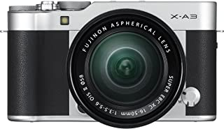 Fujifilm X-A3-24.3 MP Mirrorless Digital Camera with XC 16-50mm F3.5-5.6 OIS II Lens, Silver
