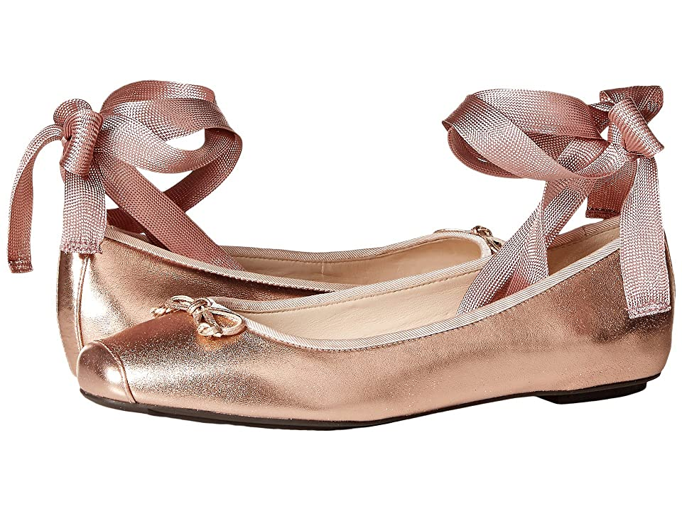 Cole Haan Downtown Ballet (Rose Gold Metallic Leather) Women